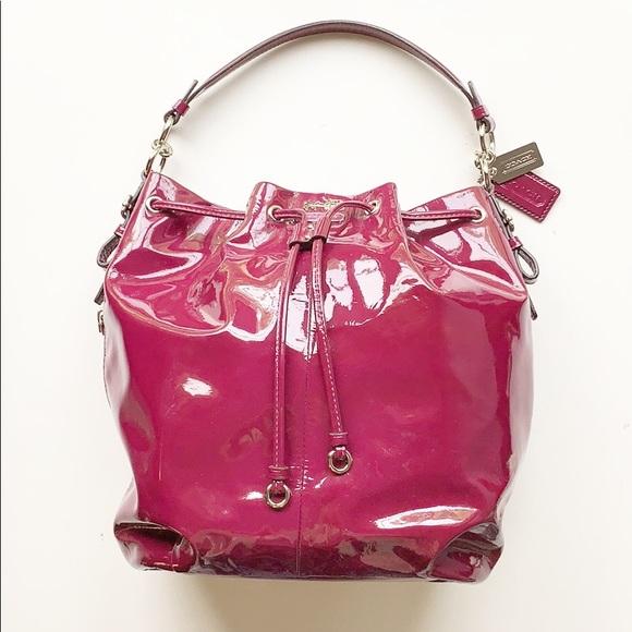 Coach Handbags - Coach   Patent Plum Leather Shoulder Bag